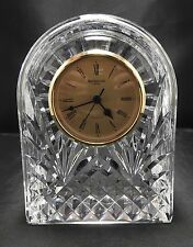 "VINTAGE WATERFORD 6"" DOME CLOCK HAND CUT CRYSTAL"