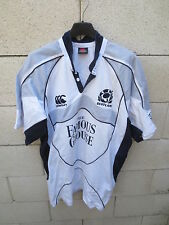VINTAGE Maillot rugby ECOSSE SCOTLAND shirt coton CANTERBURY away blanc L