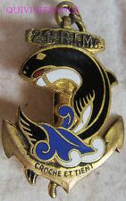 IN7238 - INSIGNE 21° Régiment d'Infanterie Coloniale, vague bleue, guilloché