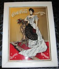 "COCA COLA VICTORIAN 20X24"" MIRROR SIGN"