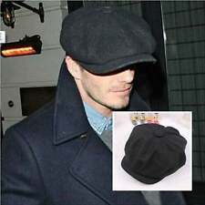 Wool Tweed Gatsby Cap Mens Ivy Hat Golf Driving Winter Sun Flat Cabbie Newsboy