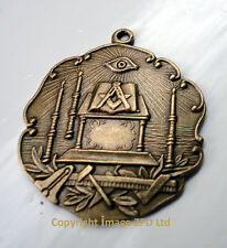 #ZP332 Freemason Tools Altar Square Compass Vintage Style Pendant All Seeing Eye