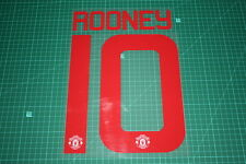Manchester United 15/16 #10 ROONEY UEFA / FA Cup AwayKit Nameset Printing