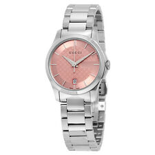 Gucci G-Timeless Pink Dial Stainless Steel Ladies Watch YA126524