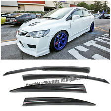 Fits 06-11 Civic Mugen II Style Window Rain Guard Visors 4drs Sedan Honda JDM SI