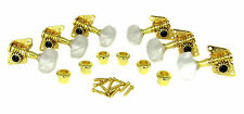6pc, Beautiful GOLD Open-Gear Guitar Tuners/Machine Heads (3L/3R) 31-77-01