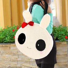 Girls Korean Fashion Winter Cute Cartoon Rabbit Bow Panda Handbag Shoulder Bag