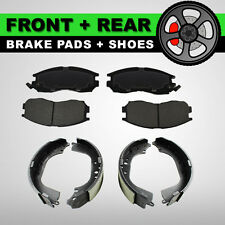 FRONT + REAR Brake Pads + Shoes 2 Complete Sets Fits Hyundai Accent 2003-2005