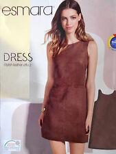 New Esmara Ladies Brown Suede Effect  Dress Size 18 UK/ 44 EUR