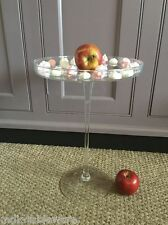 "1 x Handmade Glass Footed Cake Stand only 37cm high ""'Massive'"" SALE"