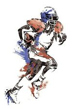 FOOTBALL PLAYER GiAnT Wall Decals Boy Sport Ball Room Decor Stickers Mural NEW