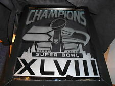 2014 SUPERBOWL 48 CHAMPION SEATTLE SEAHAWKS ETCHED 9X12 MIRROR GLOSS WOOD FRAME