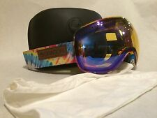 NEW Dragon APX Tie Dye Yellow Blue Oversized Mens Ski Snowboard Goggles