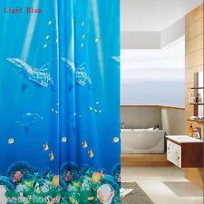 NEW 3D Underwater World Waterproof Shower Curtain Bathroom Decoration 180x180cm
