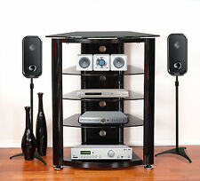 TV Stand Entertainment Unit Hifi Rack For Component Audio