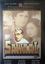 SAWAAL - YRF Bollywood indian movie dvd. Sanjeev Kumar, Shashi Kapoor, Poonam.