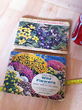 Wild Flowers Brooke Bond Picture Cards Books Old x 2