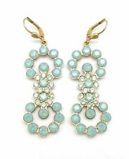 CATHERINE POPESCO Pacific Opal Coco-Pave Double Circle Swarovski Gold Earrings