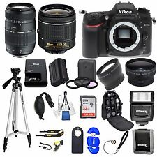 Nikon D7200 DSLR Camera w/ VR 18-55mm +  70-300 + 32GB VALUE BUNDLE * Brand New*