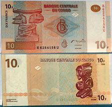 CONGO billet neuf de 10 FRANCS  ART PREMIER Pick87c COUPE EN BOIS LUBA 2003