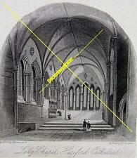 Stich: Lady Chapel Hereford Cathedrale um 1880 (24785)