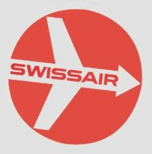 SWISS AIRLINE SWISSAIR BAGGAGE LUGGAGE LABEL The Size 3.5 Inch = 8.89 Centimeter