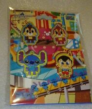 Disney pins HKDR Toy Factory Booster 4 pin set Chip n Dale Pinocchio Stitch