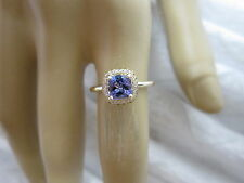GORGEOUS 14 KT GOLD 1.12 CTW TANZANITE AND DIAMOND RING !!!!!!!