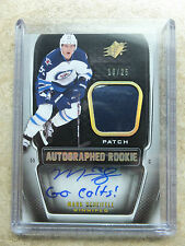 11-12 UD SPx Autographed Rookie RC Patch Spectrum #202 MARK SCHEIFELE /25
