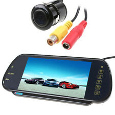 "7"" MP5 Bluetooth Car Rearview Mirror Monitor+HD 420TVL Car Reverse Backup Camera"