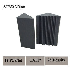 12 PCS New 12 x 12 x 24 cm Acoustic Bass Traps Sound Absorption Foam Charcoal