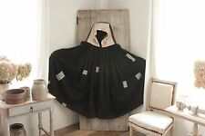 Antique French Cloak cape Hooded clothing c 1890 pieced patched OUTSTANDING