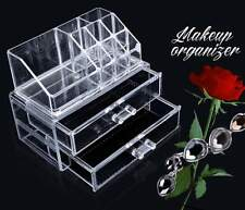 Clear Acrylic Makeup Case Cosmetic Organizer Drawers Jewelry Storage Holder Box