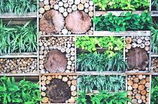 Deko Möbel Patchwork Stoffe Baumwolle Vorhang Gardine Holz & Pflanzen 1319/25