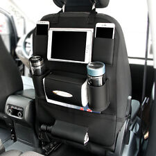 Car Seat Leather Back Bag Organizer Storage Cup iPad Phone Holder Multi-Pocket