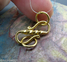 STUNNING 24K GOLD VERMEIL OVER STERLING SILVER CONTEMPORARY TWIST DESIGN CLASP