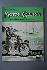 R&L Mag: Motor Cycling Apr 22 1954 Artie Bell/James Captain K7/Enfield Engine WD
