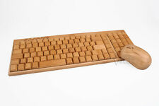 Wireless Tastatur-Maus-Set Bambusholz Bambootech Multimedia PC Mac kabellos Holz