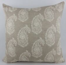 "Large 20"" Shabby Chic Clarke & Clarke Harriet Linen Paisley Pillow Cushion Cover"