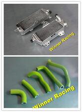 aluminum alloy radiator and silicone hose Kawasaki KDX200 KDX 220 1997-2005