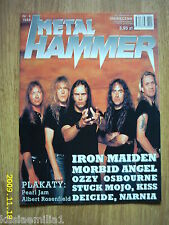 IRON MAIDEN on front cover Metal Hammer 4/1998 Polish magazine