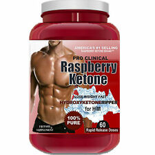 RASPBERRY KETONE BEST #1 HYDROXYKETONE Fat Weight Loss PURE Diet 1200mg 60 Doses