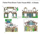 FISHER-PRICE REPLACEMENT LITHOS 952 TUDOR HOUSE BROWN Little People Play Family