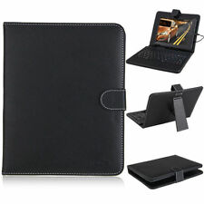 "7"" PU Leather Micro USB Folding Stand Case Cover With Keyboard For Android"