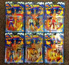 1995 TOY BIZ X-MEN MUTANT GENESIS SERIES COMPLETE 6 FIGURE SET LOT WOLVERINE D12