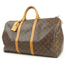 Authentic Louis Vuitton Monogram Keep All 50 Hand Bag Boston Bag M41426 Used F/S