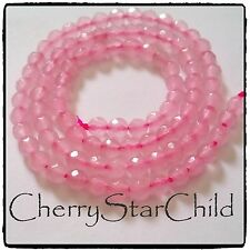 Genuine faceted natural pink rose quartz beads for bracelet necklace craft