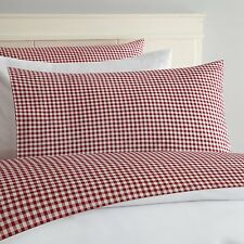MaryJanes Home, Gingham Sheet Set 100% Cotton Full, Red