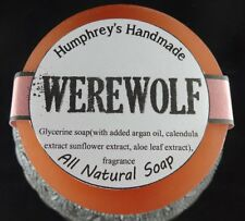 WEREWOLF Shave & Shampoo Soap Men's Puck Round Glycerin Bar Twilight Woods Type