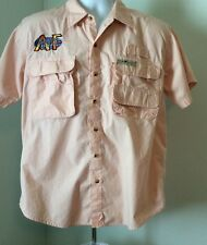 Hook & Tackle Outfitters Men's Fishing Vented Button Up Shirt Large
